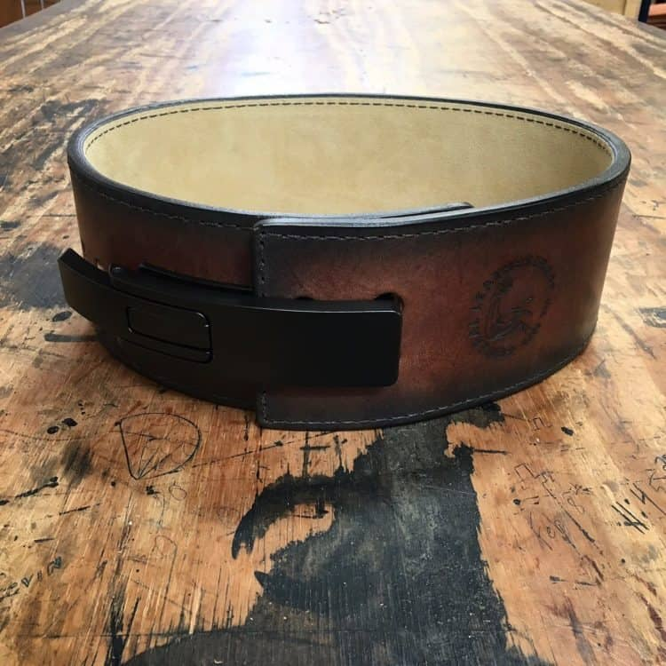 Dyed Brown Lever Belt