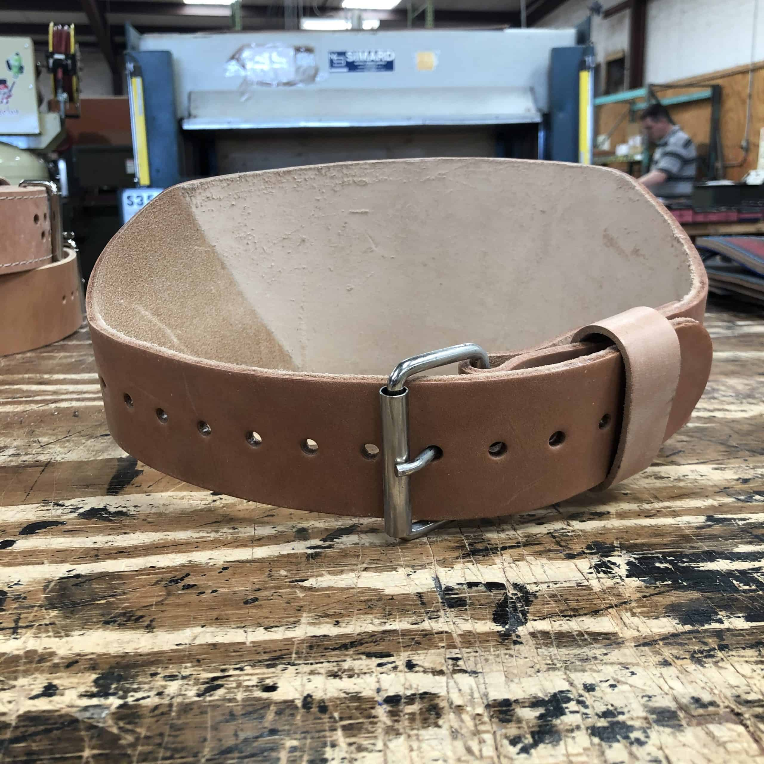 Discount Belt 6.5mm Thick – 6″ Leather Training Belt by Pioneer #147 Small